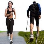 Laufen und Nordic Walking
