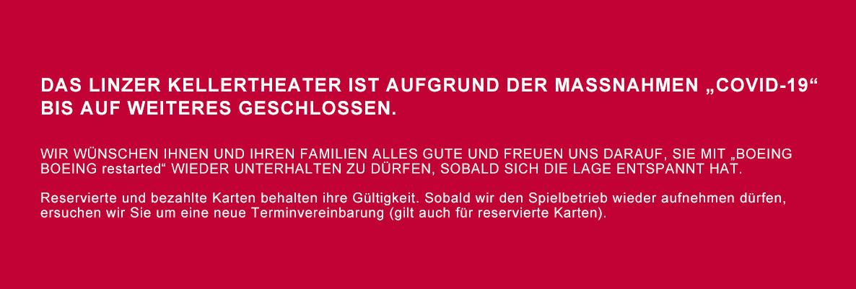 Kellertheater Absage