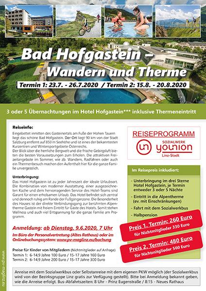 Flugblatt bad Hofgastein